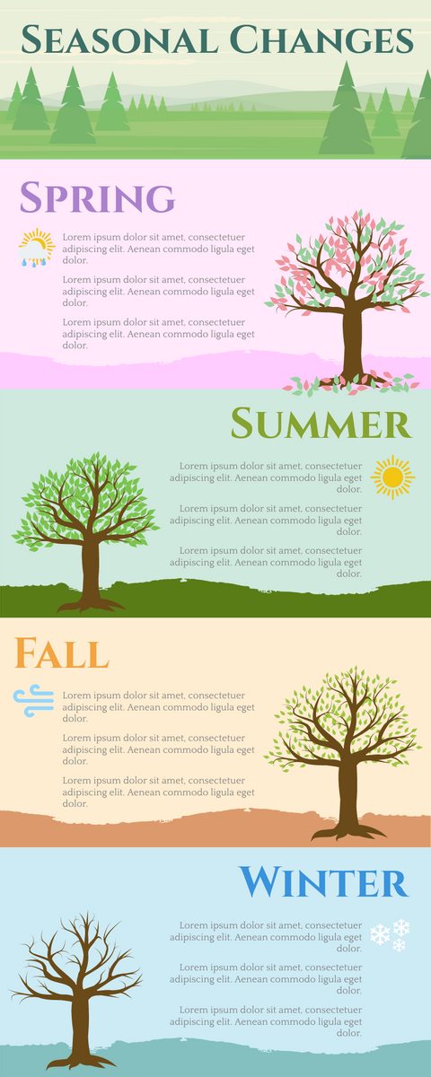 Infographic template: Seasonal Changes Infographic (Created by InfoART's Infographic maker)