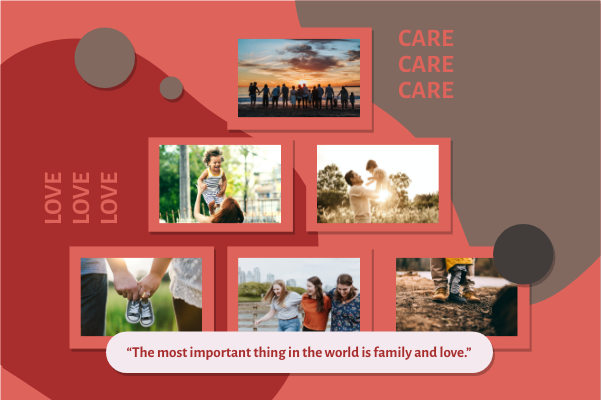 Greeting Card template: Family Love Greeting Card (Created by Collage's Greeting Card maker)