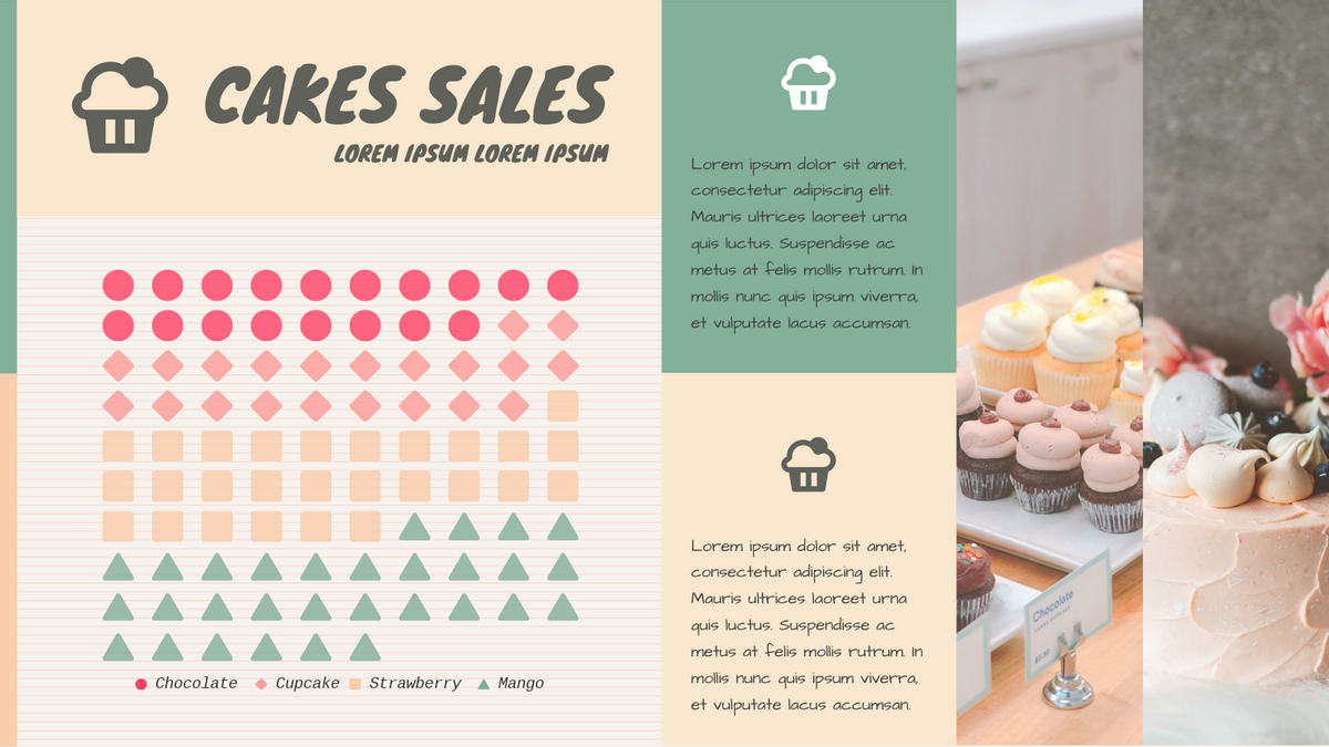 Pictorial Chart template: Cakes Sales Pictorial Chart (Created by Chart's Pictorial Chart maker)