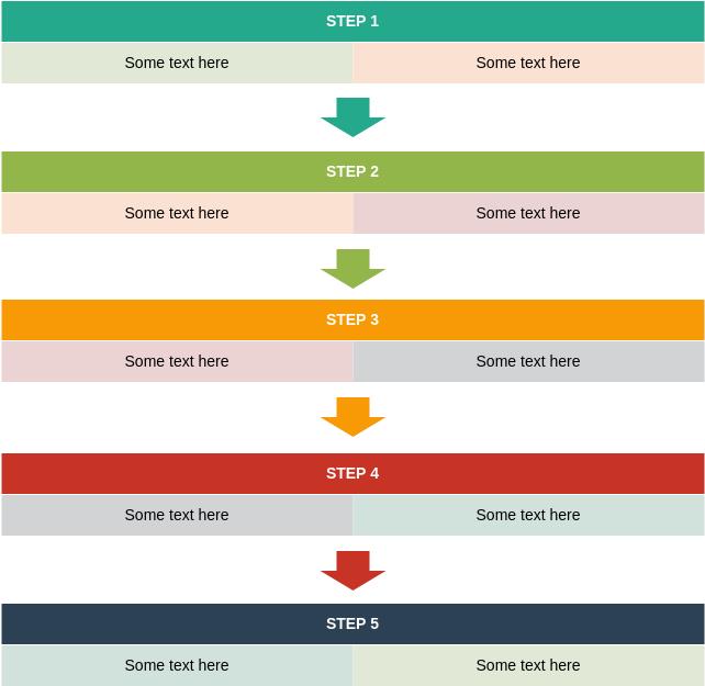 Process Block Diagram template: Segmented Process (Created by Diagrams's Process Block Diagram maker)