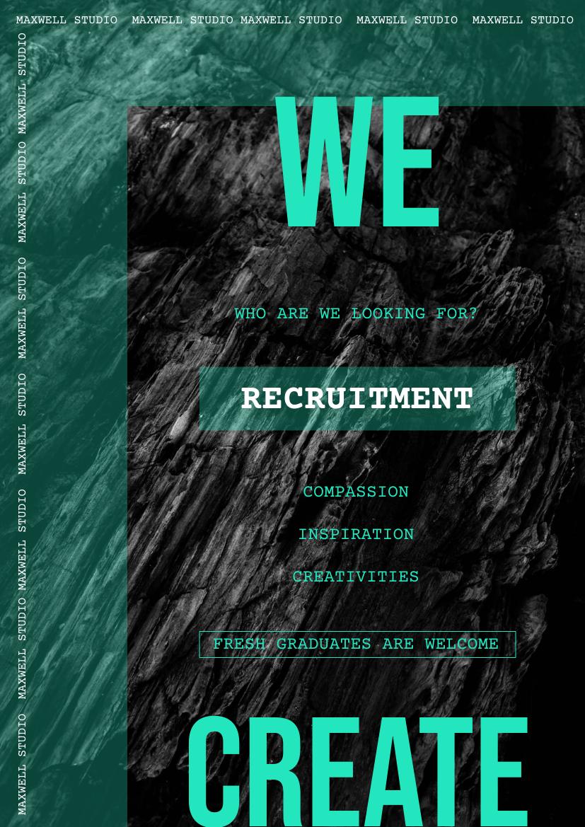 Flyer template: Mint Creative Recruitment Flyer (Created by InfoART's Flyer maker)
