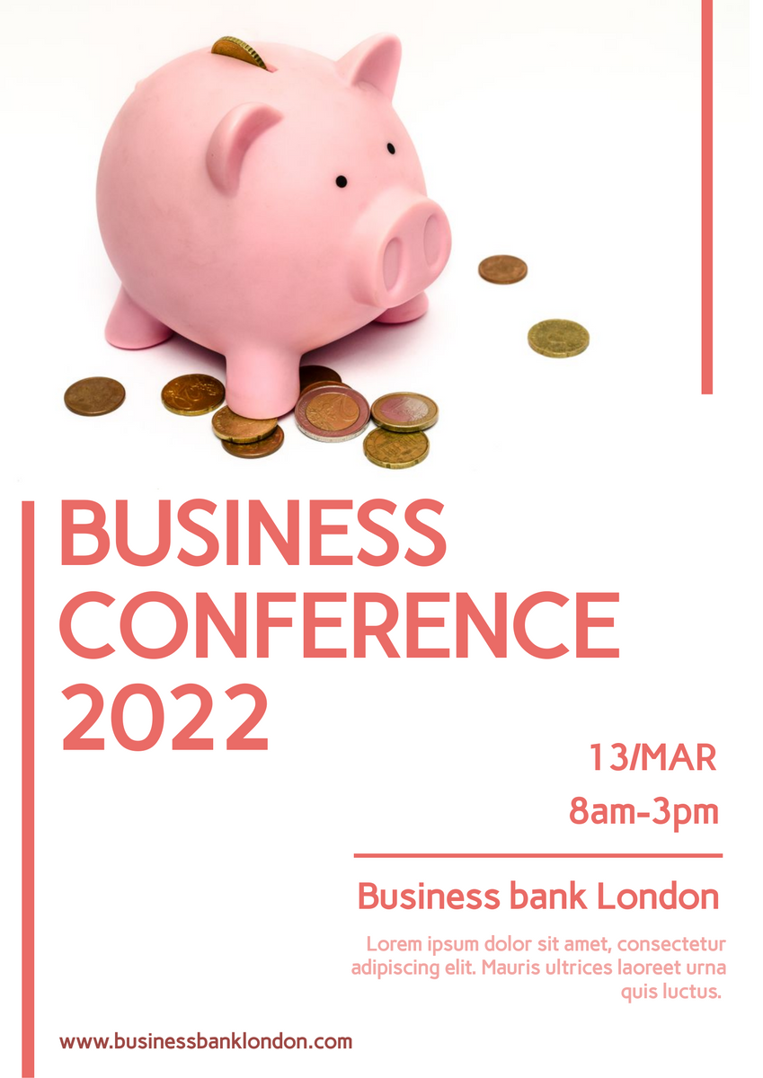 Poster template: Business Conference Poster (Created by InfoART's Poster marker)