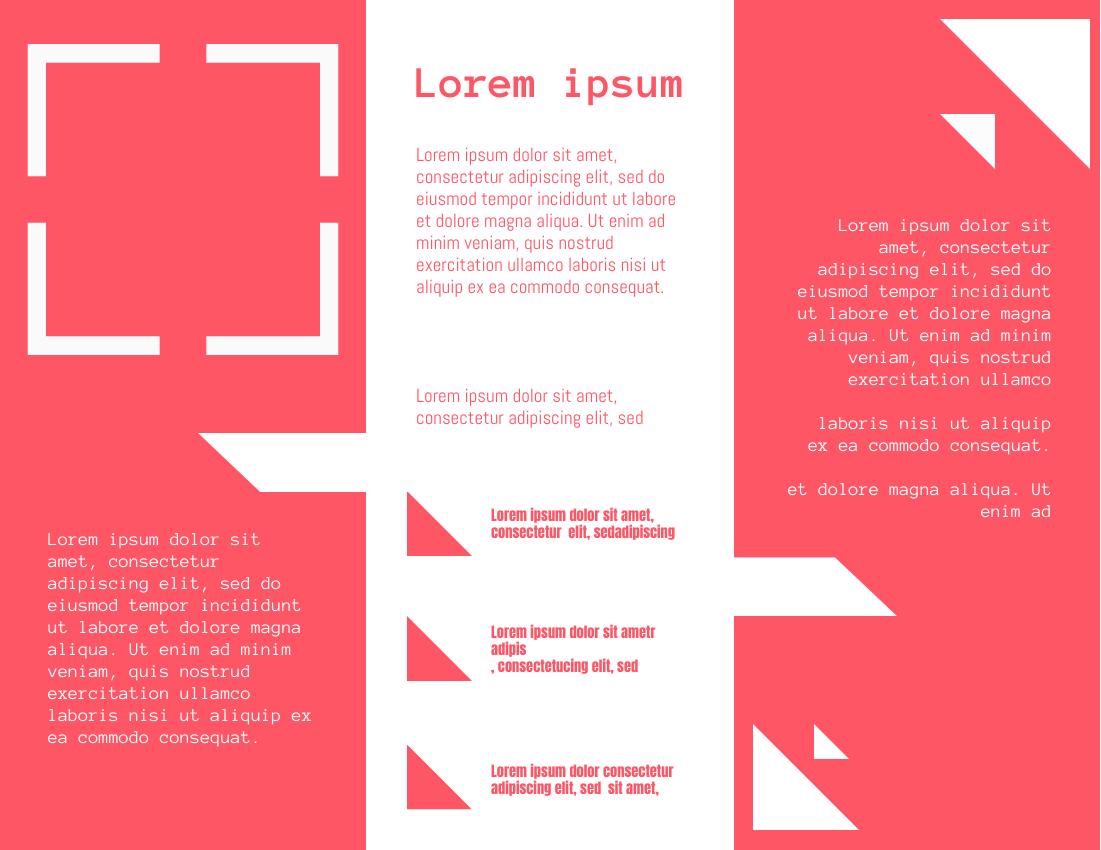 Brochure template: Peach Red Brochure (Created by InfoART's Brochure marker)