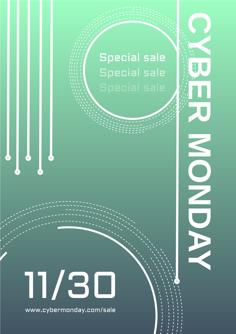 Flyer template: Gradient Colour Cyber Monday Flyer (Created by InfoART's Flyer maker)
