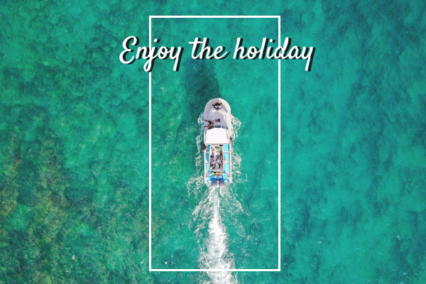Greeting Card template: Enjoy The Holiday Greeting Card (Created by InfoART's Greeting Card marker)