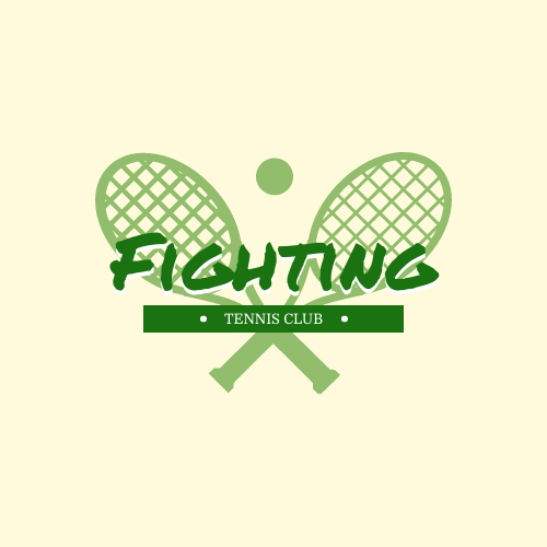 Logo template: Tennis Club Logo Created With Sport Equipment Graphic In Monochrome (Created by InfoART's Logo maker)