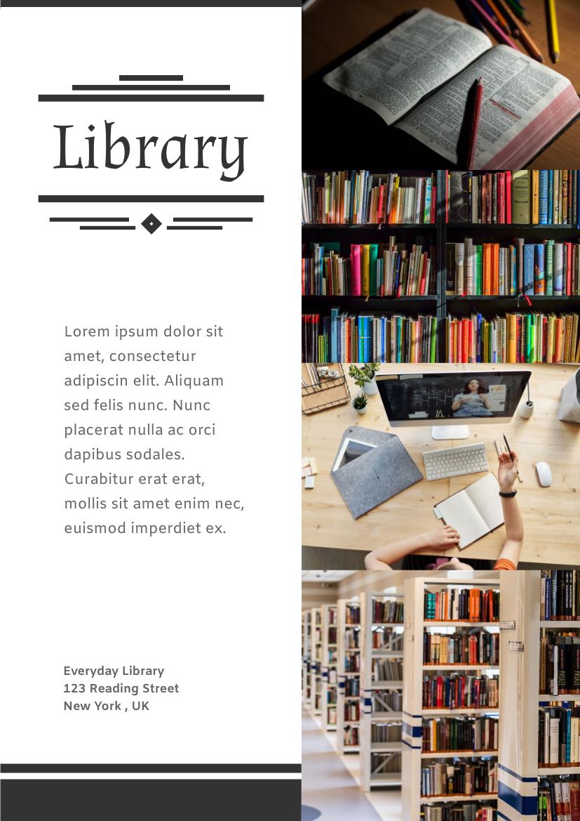 Flyer template: Library Flyer (Created by InfoART's Flyer maker)