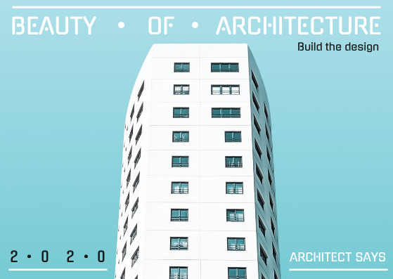 Postcard template: Beauty Of Architecture Postcard (Created by InfoART's Postcard maker)