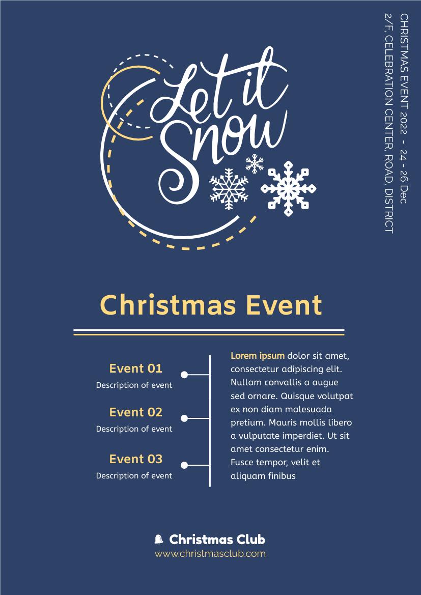 Flyer template: Christmas Event Informative Flyer (Created by InfoART's Flyer maker)