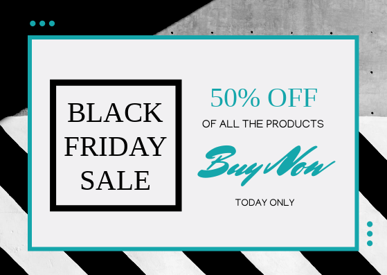 Gift Card template: Monochrome Geometric Black Friday Sale Gift Card (Created by InfoART's Gift Card maker)