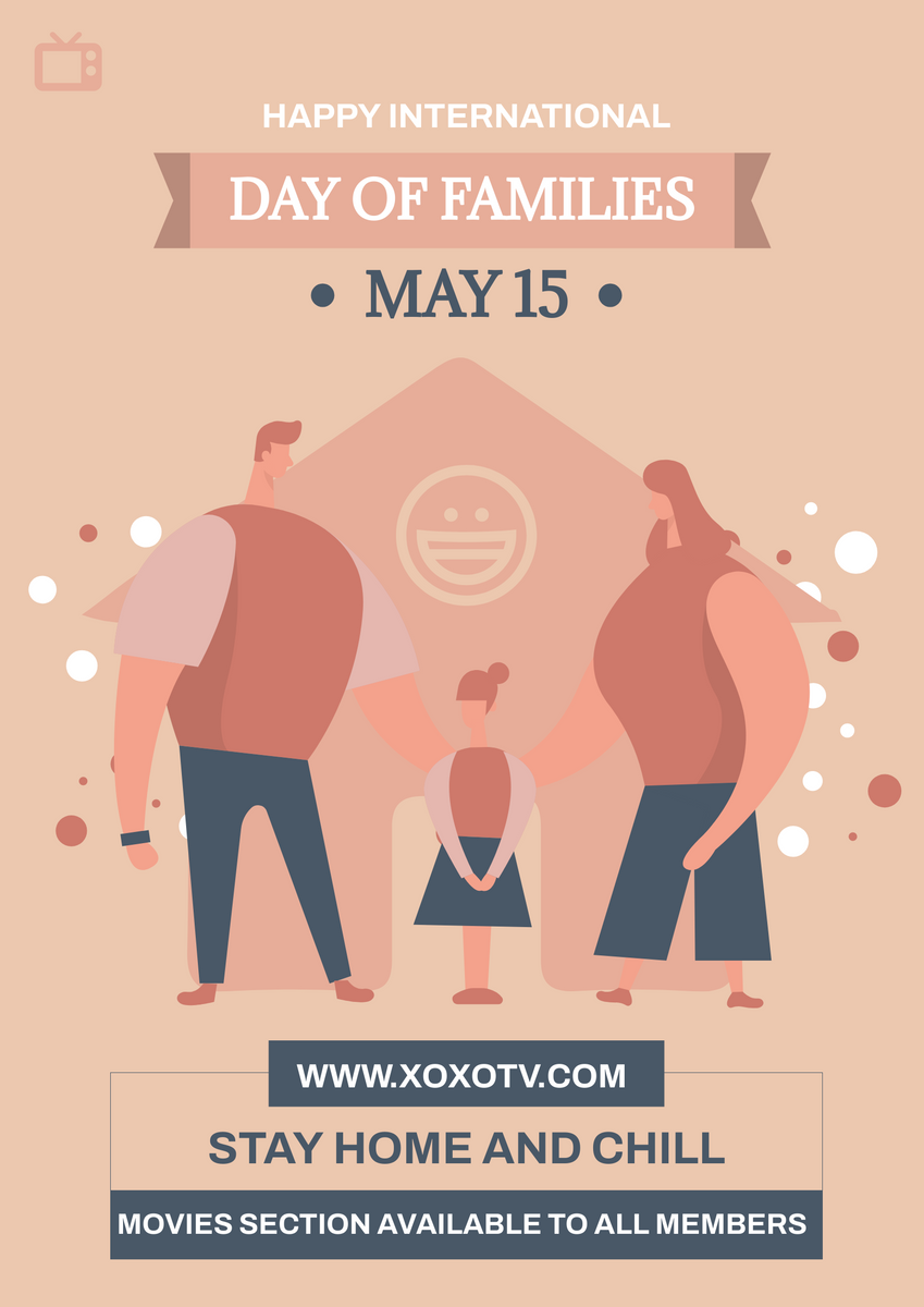 Poster template: Family Day Movie Night Poster (Created by InfoART's Poster maker)