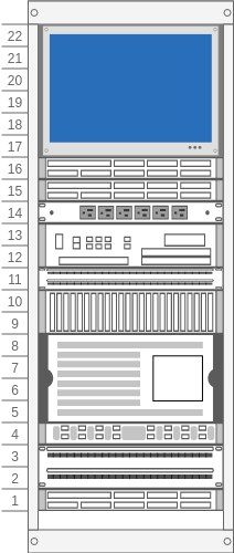 Rack Diagram Example with Monitor (Rack Diagram Example)