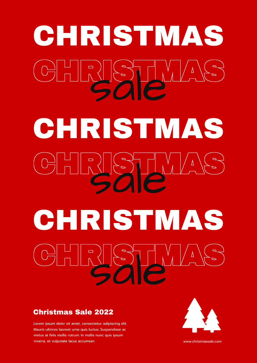 Poster template: Christmas Sale 2020 Typography Poster (Created by InfoART's Poster maker)