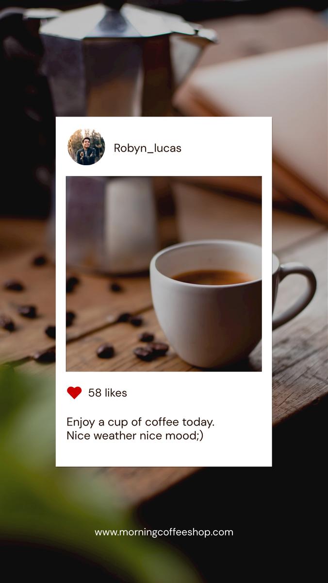 Instagram Story template: Coffee Photo Instagram Frame Coffee Shop Instagram Story (Created by InfoART's Instagram Story maker)