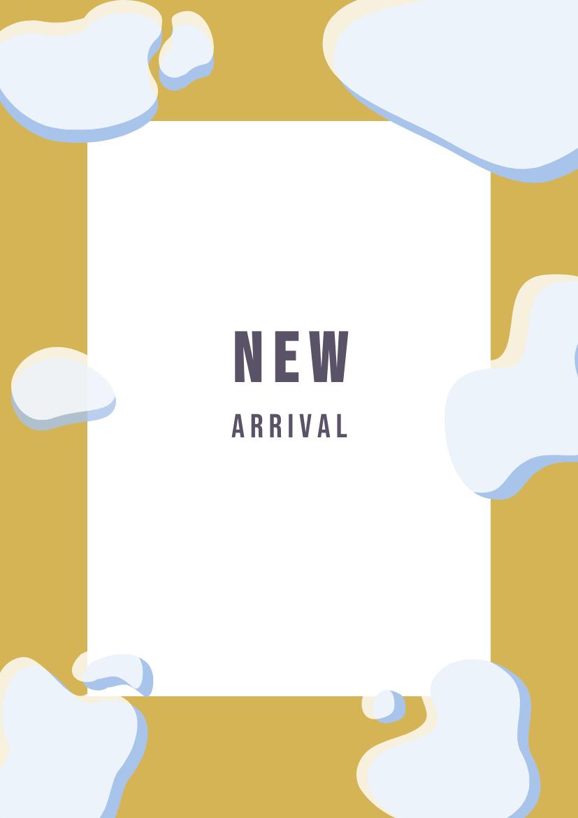 Flyer template: Simple New Arrival Flyer (Created by InfoART's Flyer maker)