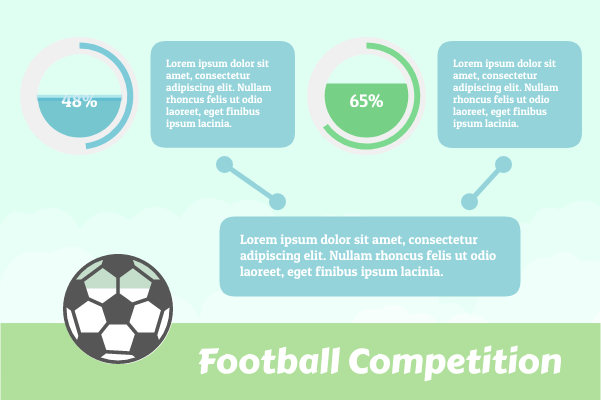 Sport template: Football Competition (Created by InfoChart's Sport maker)