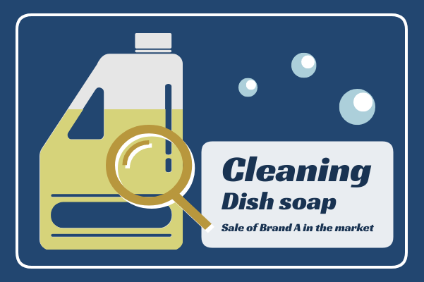 Container template: Sale Of Dish Soap (Created by InfoChart's Container maker)