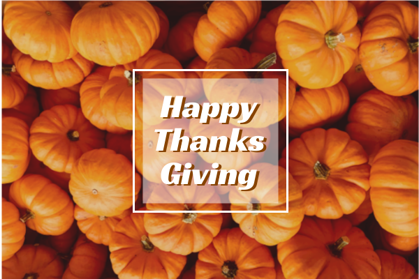 Greeting Card template: Thanksgiving Greeting Card (Created by InfoART's Greeting Card maker)