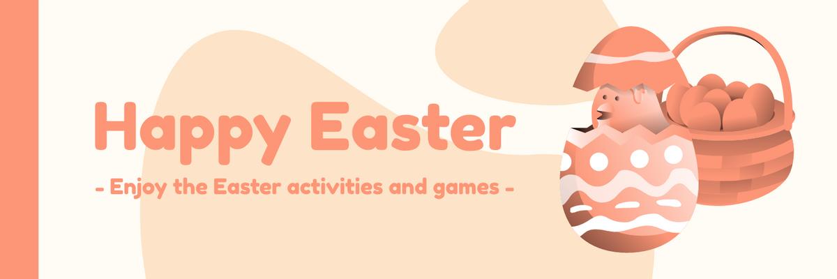 Twitter Header template: Orange Easter Twitter Header (Created by InfoART's Twitter Header maker)