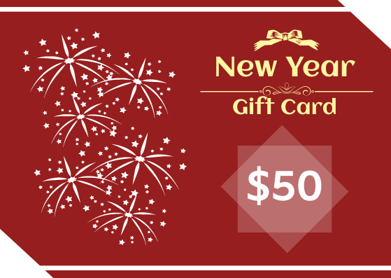 Gift Card template: New Year Gift Card (Created by InfoART's Gift Card marker)