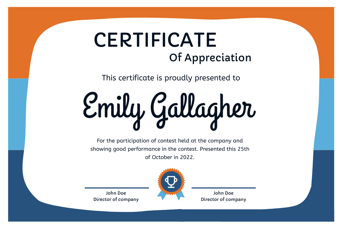 Free Certificate Templates Throughout Volunteer Certificate Templates