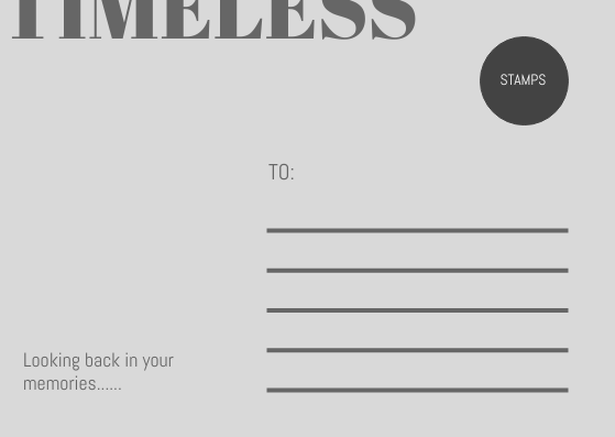 Postcard template: Time Exhibition Postcard (Created by InfoART's Postcard maker)
