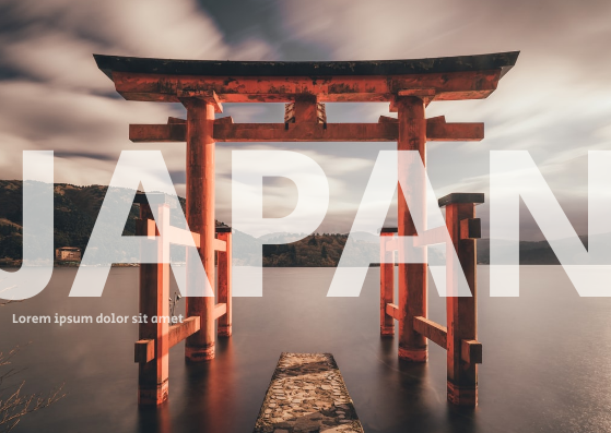 Post Card template: Japan Postcard (Created by InfoART's Post Card marker)