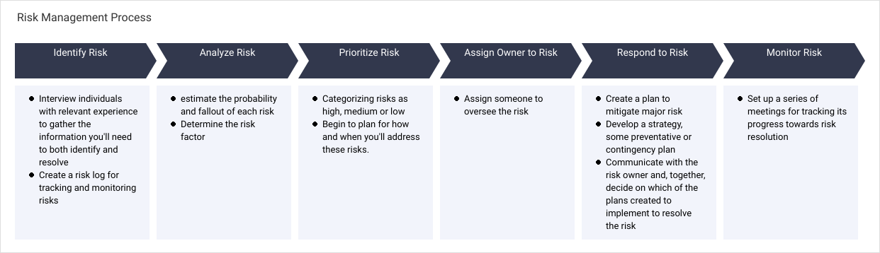 Project Process Map template: Risk Management Process (Created by Diagrams's Project Process Map maker)
