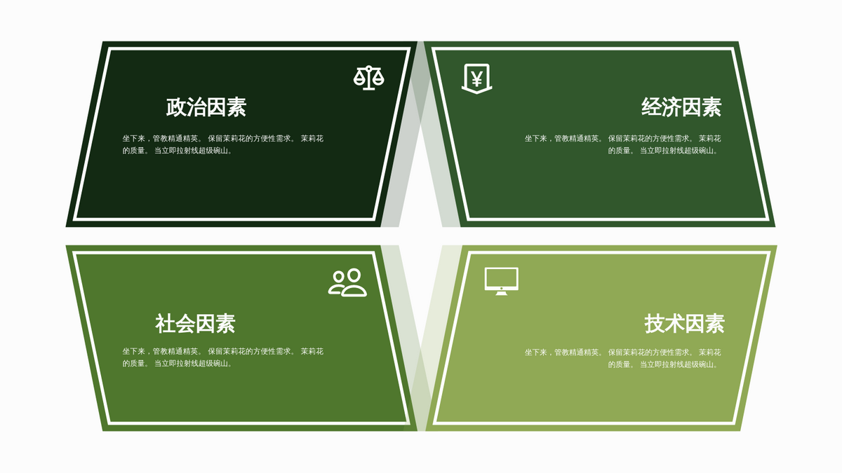 PEST 分析 template: 政经社技图表模板10 (Created by InfoART's PEST 分析 maker)