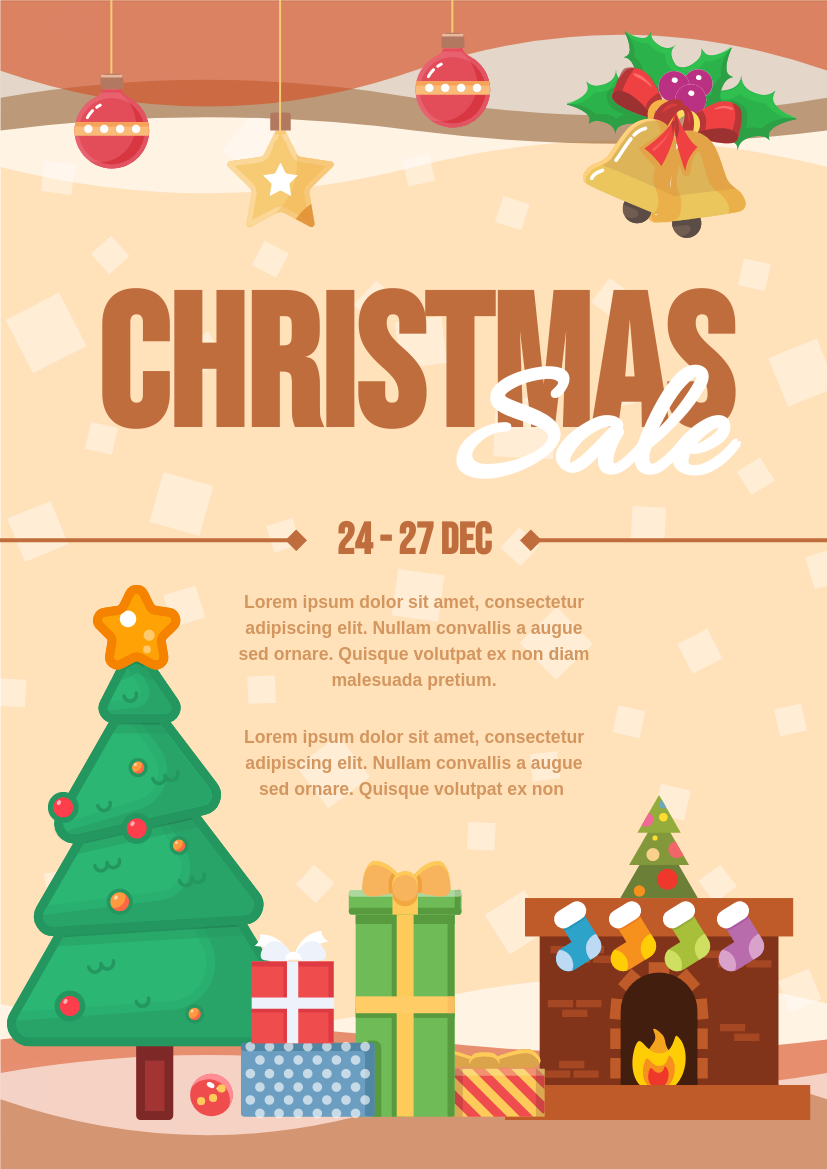 Flyer template: Christmas Sale Graphic Design Flyer (Created by InfoART's Flyer maker)