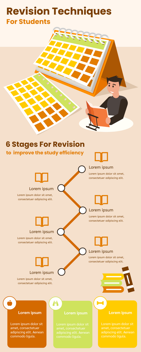 Infographic template: Infographic About Revision Techniques For Students (Created by InfoART's Infographic maker)
