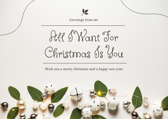 Postcard template: Brown And Simple Christmas Greetings Postcard (Created by InfoART's Postcard maker)