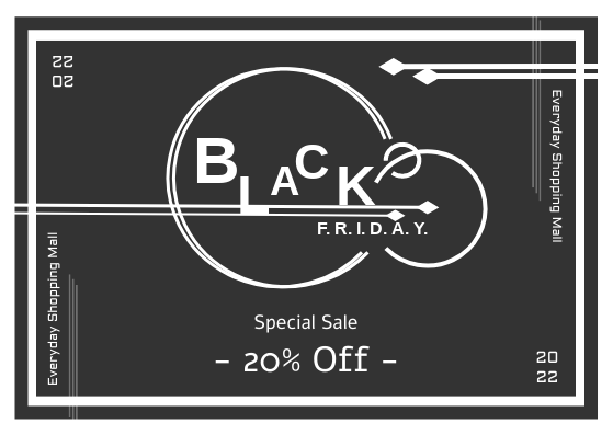 Gift Card template: Black Friday Special Sale Gift Card (Created by InfoART's Gift Card maker)