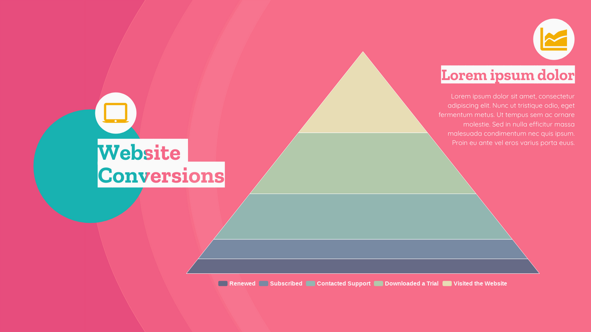 Pyramid Chart template: Website Conversions Pyramid Chart (Created by Chart's Pyramid Chart maker)