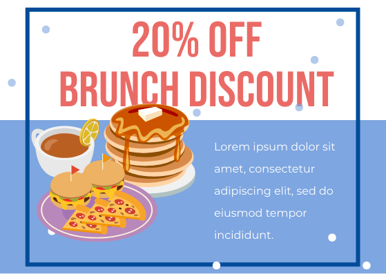 Gift Card template: Brunch Discount Card (Created by InfoART's Gift Card marker)