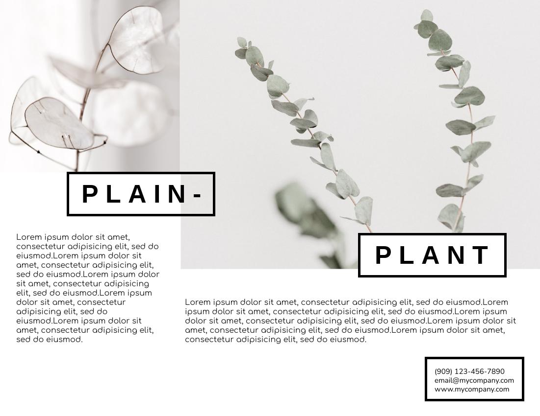 Brochure template: Plant Brochure (Created by InfoART's Brochure marker)
