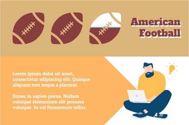 Sport template: American Football Data (Created by InfoChart's Sport maker)