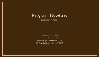 Business Card template: Pink And Brown Bear Illustration Business Card (Created by InfoART's Business Card maker)