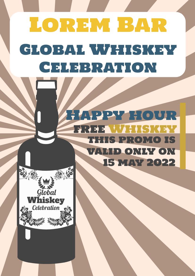 Flyer template: World Whiskey Day Promotion Flyer (Created by InfoART's Flyer maker)