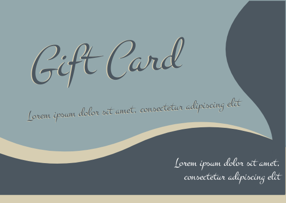 Gift Card template: Wave Gift Card (Created by InfoART's Gift Card marker)