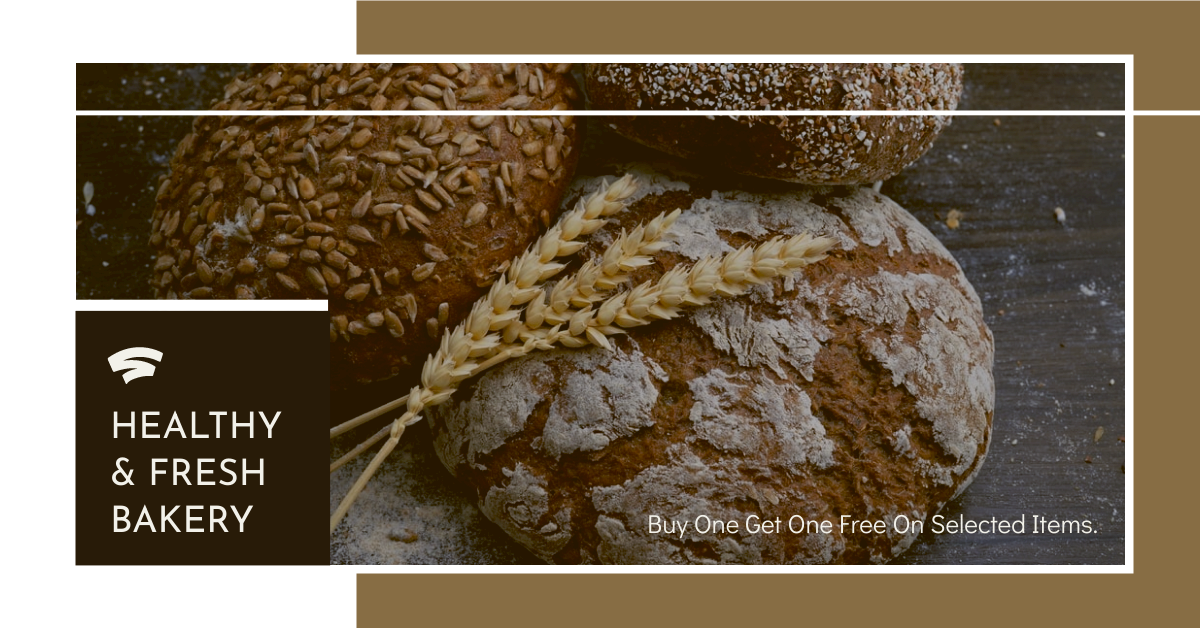 Facebook Ad template: Bakery Buy One Get One Free Facebook Ad (Created by InfoART's Facebook Ad maker)