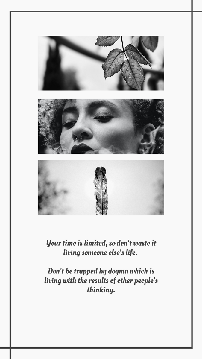 Instagram Story template: Black and white Instagram Story (Created by InfoART's Instagram Story maker)