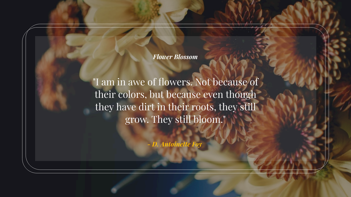 Twitter Post template: Flower Blossom Spring Quote Twitter Quote (Created by InfoART's Twitter Post maker)