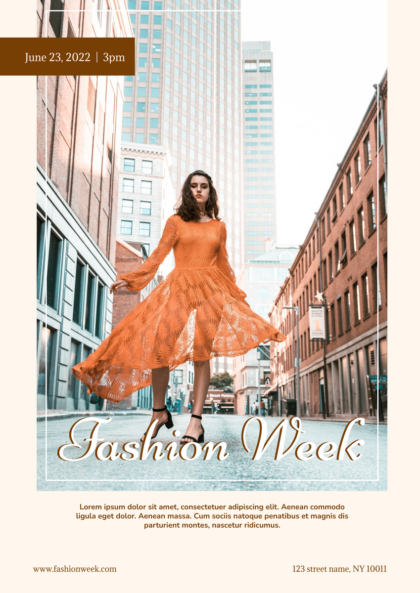 Poster template: Fashion Week Poster (Created by InfoART's Poster maker)