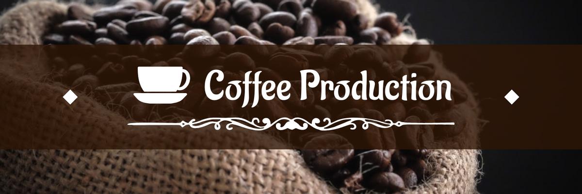 Twitter Header template: Brown Coffee Production Twitter Header (Created by InfoART's Twitter Header maker)