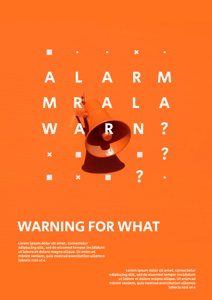 Poster template: Warning Poster (Created by InfoART's Poster marker)