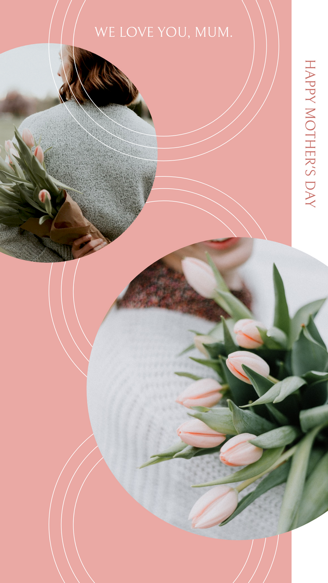 Instagram Story template: Pink Flower Photos Mother's Day Instagram Stories (Created by InfoART's Instagram Story maker)