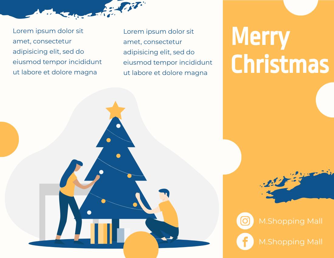 Brochure template: Christmas Brochure (Created by InfoART's Brochure marker)