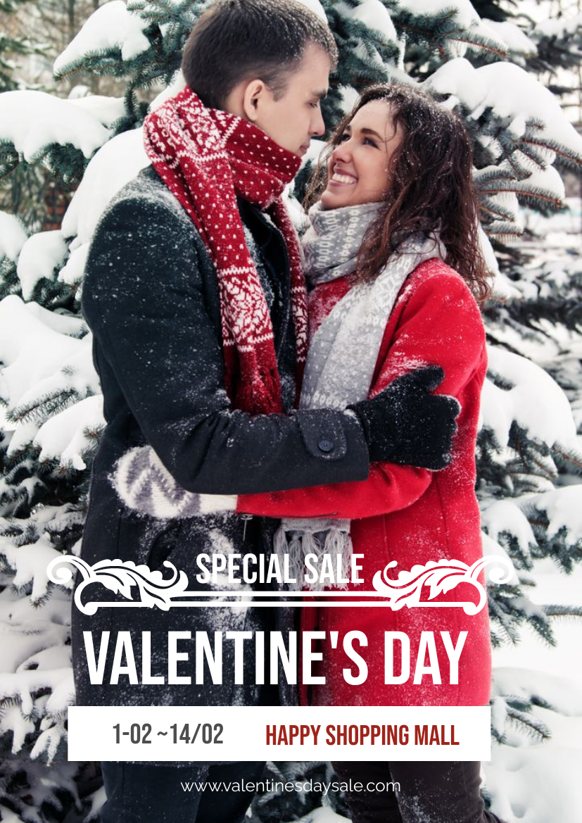 Flyer template: Valentine's Day Clothing Special Sale Flyer (Created by InfoART's Flyer maker)