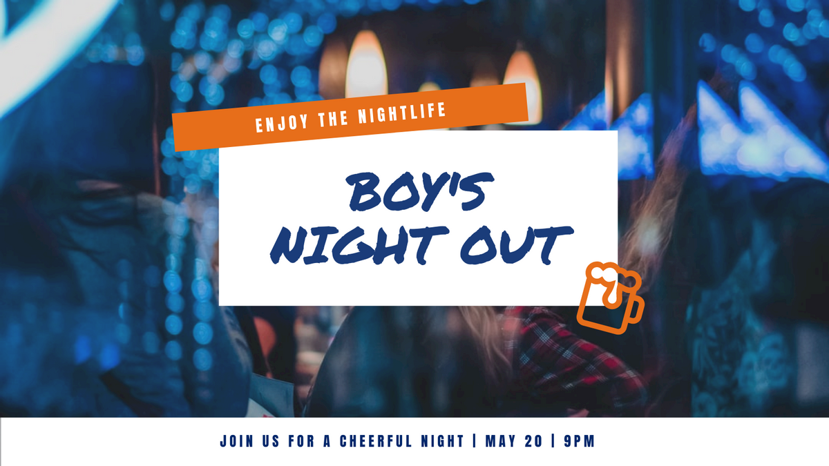 Twitter Post template: Boy's Night Out Invitation Twitter Post (Created by InfoART's Twitter Post maker)